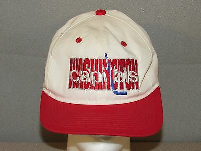Vintage 90's Washington CAPITALS Snapback Cap Hat One Size Fits All NHL