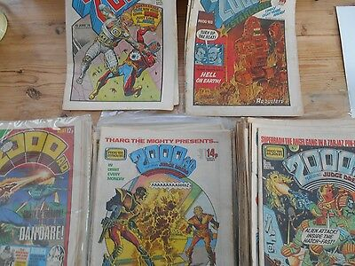 JOB LOT - 93 early ISSUES OF 2000 AD  please see description