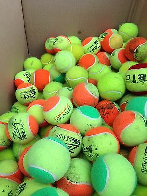 Box of 100 x Mini-Orange and Mini-Green Tennis Balls