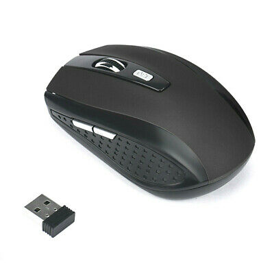 Great Silver Optical Mouse Wireless Mice PC Laptop Windows Apple Macbook. 0180