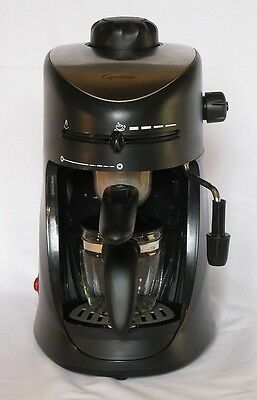 Capresso 4 cup Espresso Cappuccino Machine Black Silver Model 303 Coffee Maker