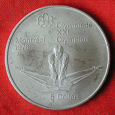 1976 Montreal Summer Olympics $5 sterling silver coin-rowing