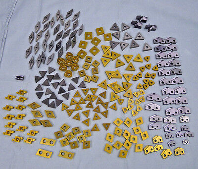 Lot 226 Carbide Inserts Lathe Milling Cutting Drill Turning Cut Off Assorted