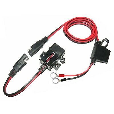MOTOPOWER 0609A 3.1Amp Waterproof Motorcycle USB Charger Kit SAE to USB Adapter