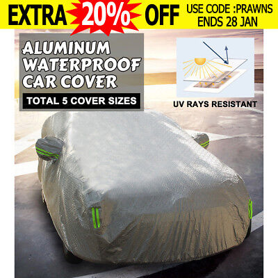 2M UV New Aluminum waterproof thick car cover rain dust snow resistant car cover