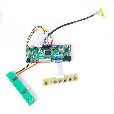 HDMI DVI VGA Audio LCD LED Controller Board For LP171WP4-TLB1 LP171WP4-TLB3 @AU
