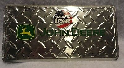 John Deere Diamond Plate License Plate (Green-Black) - Free Shipping