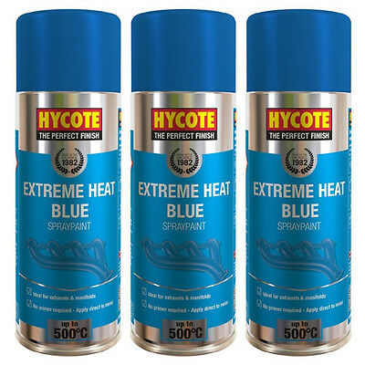 Hycote Very High Temperature Blue 3 Spray Cans Paint 400ml