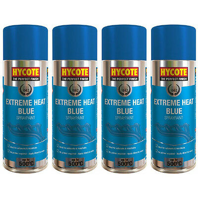 Hycote Very High Temperature Blue 4 Spray Cans Paint 400ml