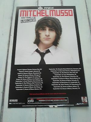 """MITCHEL MUSSO Concert Poster DISNEY STAR San Diego HOUSE OF BLUES 11""""x17"""""""