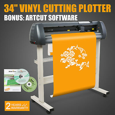 "34"" Vinyl Cutter Sign Cutting Plotter W/stand Design/cut Printer Sticker Popular"