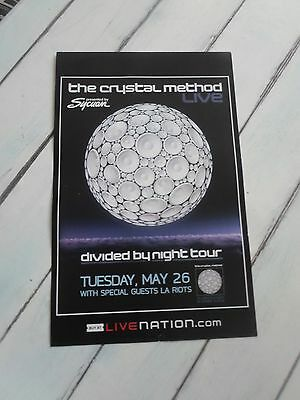 """THE CRYSTAL METHOD Concert Poster DIVIDED BY NIGHT 11""""x17"""""""