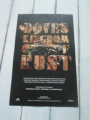 """DOVES Concert Poster KINGDOM OF RUST 11""""x17"""""""