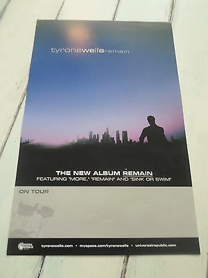 """TYRONE WELLS Concert Poster REMAIN 11""""x17"""""""