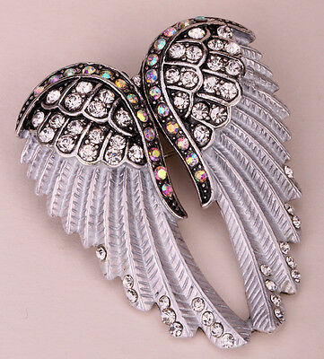 Guardian Angel Wing Brooch Pin Pendant Women Biker Jewelry Gift Bd03
