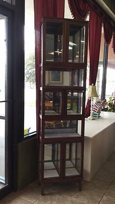 Antique multi-level wood/glass display Lot 114