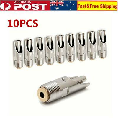 10 PCS Stainless Steel Pig Automatic Water Nipple Drinker Copper Cap Mouth