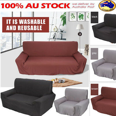 1/2/3/4 Seater Sofa Cover Stretch Couch Lounge Protector Washable Recliner Cover