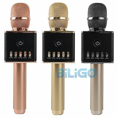 H8 Wireless Microphone Bluetooth Karaoke KTV Singing Stereo Mic Player Speaker