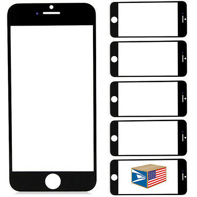 """5 LOT Black REPLACEMENT SCREEN GLASS DISPLAY FOR iPHONE 6+ 6S+ Plus 5.5"""" #E1417"""