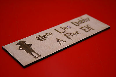 Wooden Bookmark Harry Potter Dobby Free Elf Plywood Laser Engraved