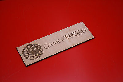 Wooden Bookmark Game Of Thrones Targaryen Dragons Sigil Plywood Laser Engraved