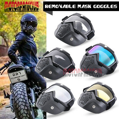 Modular Mask Detachable Goggles Face Motorcycle Half Helmet For Motorcycle Bike