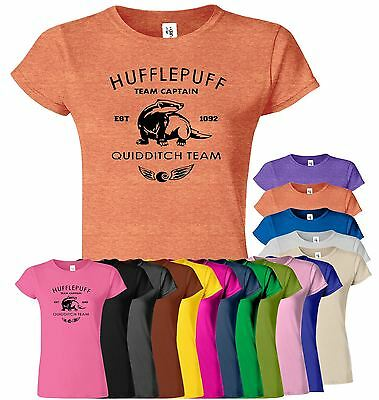 HARRY POTTER Hufflepuff Womens T-Shirt Hogwarts Team Present Top Tee T Shirt