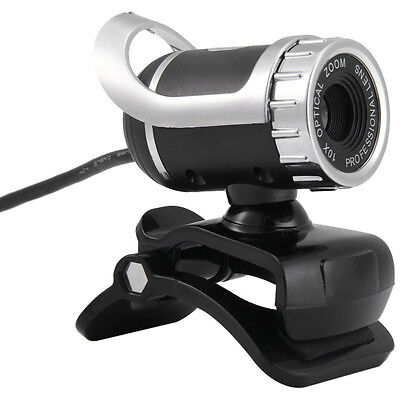 New 360° USB 2.0 1080P HD Web Cam Web Video Camera Clip-on MIC for PC Skype MSN