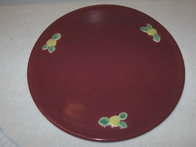"Coors Pottery  ""rosebud""  Cake Plate, Rose Color"