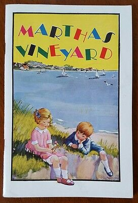 Martha's Vineyard New Haven Railroad New England Steamship Co Booklet + Map 1928