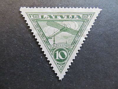 A4P25 Latvia Lettonia Lettland Air Post Stamp 1928 10s mint no gum #51