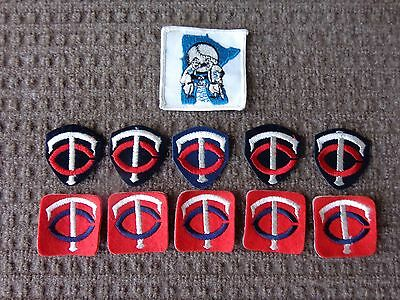 Vintage Minnesota Twins Cooperstown Patches 11 Pc. Lot  Old School Logos RARE !!