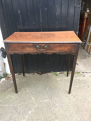 Mahogany Ladies Writing Table Desk With Central Drawers