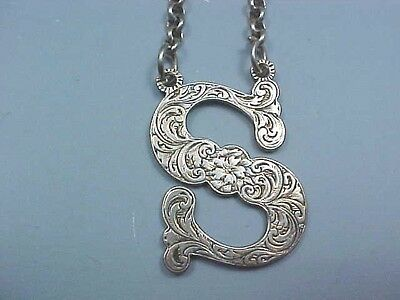 "1844 Sterling Silver Decanter Wine Label ""S"" By Rawlings & Summers London"