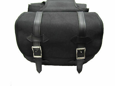 Motorcycle Motorbike OSX Strong Canvas material Saddle Bag  Pannier Luggage 350