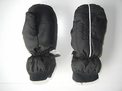 GORDINI Black Warm WINTER MITTENS Ski Snow Gloves Size Kids TODDLER MEDIUM Baby
