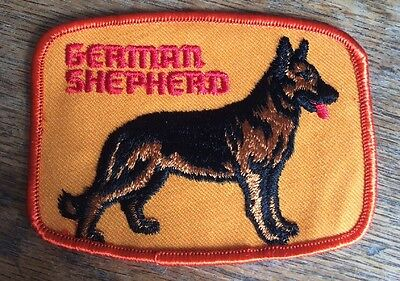 "Vintage German Shepherd Embroidered Patch Approx Size 4""x3"""