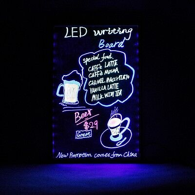 Erasable LED Advertise Board Menu Flashing Display Electronic Fluorescent Board