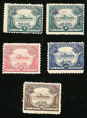 1886 Central American Steamship Co Stamps