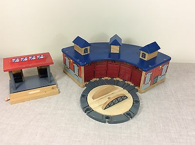 Incredible Brio Thomas Train Track Terminal Wood Toy Wooden Round House Turntable Station Home Remodeling Inspirations Genioncuboardxyz