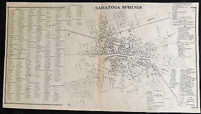 "1866 Saratoga County NY ""Village of Saratoga Springs"" Antique Map Atlas"