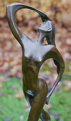 Lovely Abstract Dancer Contemporary Pure Bronze Sculpture Statue