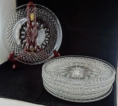 Set Of 8 Waterford Colleen Crystal Glass Luncheon Plates - Ireland