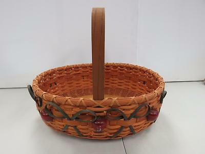 Large Handmade Apple Basket by Pam Feix 2000  1545