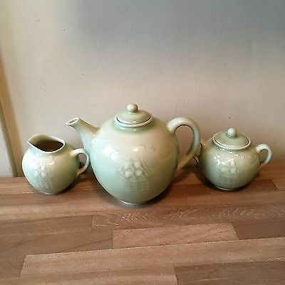 Lovely Rookwood Teapot Cream & Sugar Set Arts & Crafts Pottery