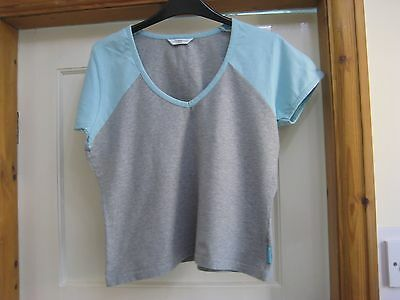 New Look grey & blue t shirt, size 14