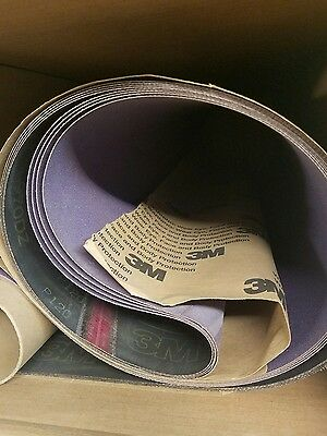 3M P# 55811, 37 in X 75 in,  Wide Belt 970DZ Cloth Belt, Grit P120Y (1 Belt)