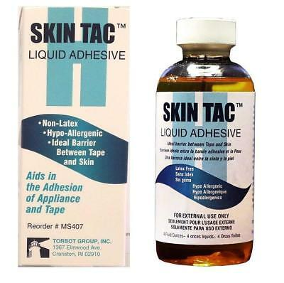 NEW Torbot Skin Tac Liquid Adhesive Barrier 4 fl oz Non-Latex Hypo-Allergenic