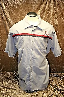 NEW MENS 4XLRed Kap Toyota  Shirt Technician Short  Sleeve Work Uniform Mechanic